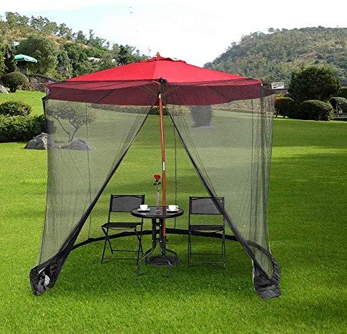NBVCX Decoración de Muebles Paraguas de Patio Mosquitera 9 pies Cubierta de Mosquito de jardín al Aire Libre para Mesa de Patio Sombrilla para Parasol Gazebo