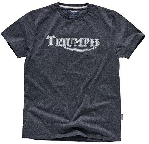 Camiseta con logotipo vintage auténtico de motocicletas Triumph, color gris