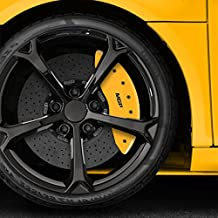 Upgrade Your Auto Set of 4 Front and Rear Yellow MGP Caliper Covers for 2007-2016 Jeep Compass