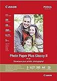 Canon PP-201 Papier Photo Brillant Format A4 (20 feuilles)