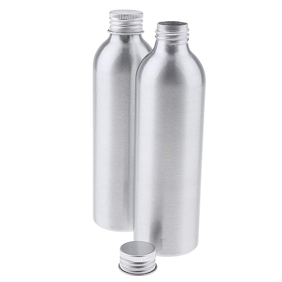 呪われた校長小さいCUTICATE 2本 アルミボトル シルバー 空ボトル 化粧品収納容器 ディスペンサーボトル 5サイズ選べ - 250ml