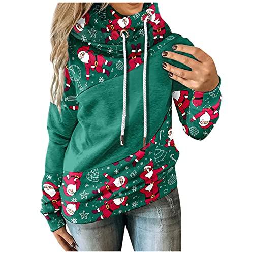 HolAngela Pulli Damen Hoodies Damen Pullover Kapuzenpullover Sweatshirt Pulli Zweifarbige Longsleeve Tops Doppelte Kapuzenpulli Casual