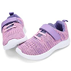 cheap nerteo Toddler Sweet Shoes Girls Children Tennis Hiking Shoes Sports Sneakers Purple / Pink 8M…