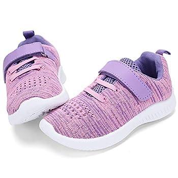 nerteo Cute Toddler Shoes Girls Kids Tennis Walking Shoes Sport Running Sneakers Purple/Pink 8 M US Toddler