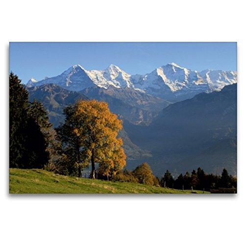 CALVENDO Premium Textil-Leinwand 120 x 80 cm Quer-Format Beatenberg, Berner Oberland, Schweiz, Leinwanddruck von swissmountainview.ch