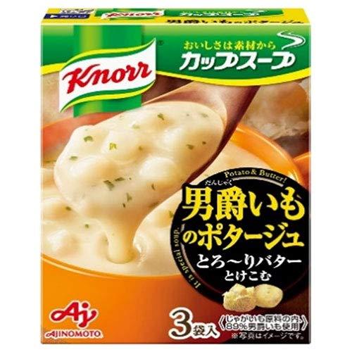 味の素 クノール カップスープ 男爵いものポタージュ (17.6g×3袋)×10箱入×(2ケース)