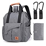 Diaper Bag Backpack, TOBSAYK Multifunction Travel Back Pack Maternity Baby Nappy Changing Bags, Large Capacity, Waterproof & Stylish