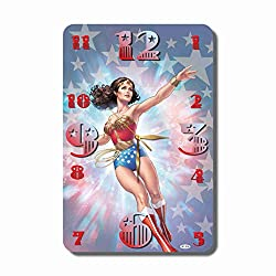 ART TIME PRODUCTION Wonder Woman 11 x 17 Handmade Wall Clock - Get Unique décor for Home or Office – Best Gift Ideas for Kids, Friends, Parents and Your Soul Mates