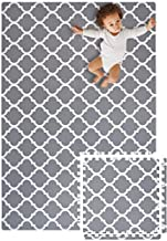 MAT-CHIC Stylish Baby Foam PlayMat - Soft Yet Thick Non-Toxic Foam Mats for Baby, Toddlers, and Kids, Large Non-Toxic Foam Interlocking Floor Tiles for Infant Tummy time, Covers 6FT x 4FT
