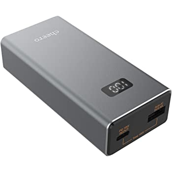 cheero Power Plus 5 10000mAh with Power Delivery 18W (Metallic) 大容量 モバイルバッテリー (パワーデリバリー対応) 2ポート出力 Type-A Type-C 対応機種へ超高速充電 iPhone, Android, Galaxy, AUTO-IC搭載 PSEマーク付 CtoCケーブル付 CHE-101
