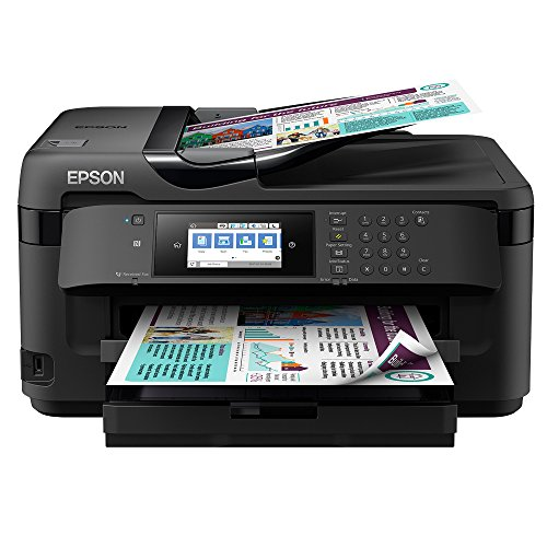 Epson WorkForce WF-7710DWF Print/Scan/Copy/Fax A3 Wi-Fi Printer, Amazon Dash Replenishment Ready, Black