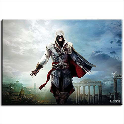 CELLYONE MEEKIS Malen nach Zahlen für Erwachsene und Kinder DIY Ölgemälde Assassins Creed EzioArt Gemälde Schlafzimmerdekoration besonderes Geschenk 40x50cm Rahmenlos