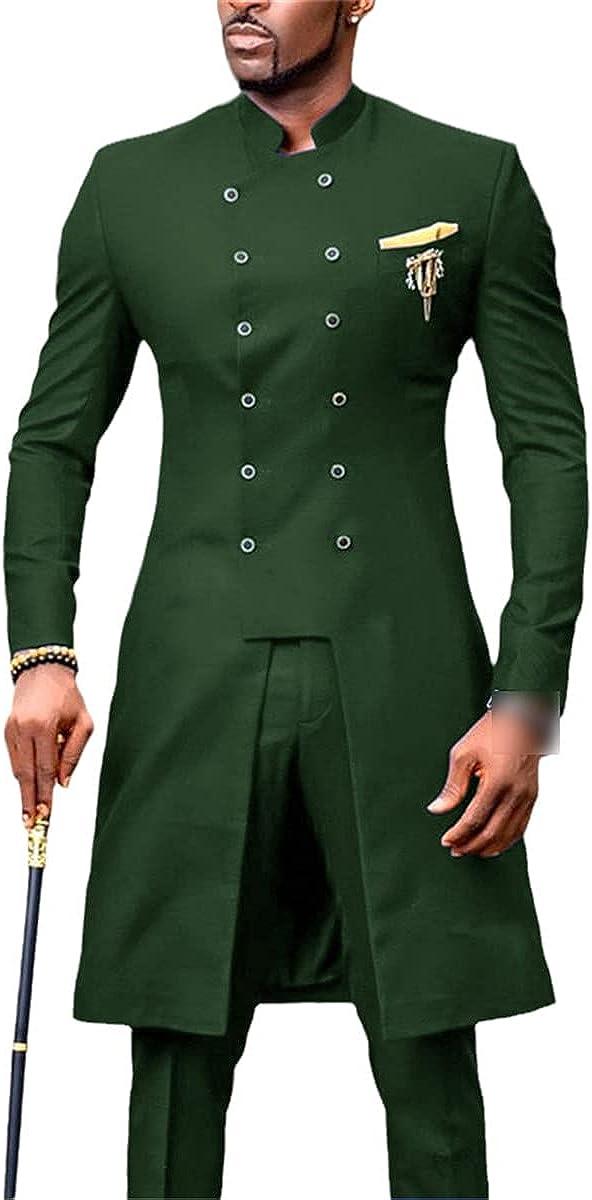 CACLSL Men's Suit Groom Tuxedo Indian Wedding Dress Casual Suit Jacket Slim Wedding Suit Jacket + Pants