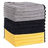 MATCC Microfiber Cleaning Cloths 12 Pack 16'' x 16'' Premium...
