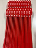 """Red Plastic Seal 100 Security Numbered 16"""" Truck Seals - Trailer Seals, Container Seal –Lock Seal– Doors Seal – Storage-Controlling Seal. AVG Packaging Supplies (100 Seals)"""