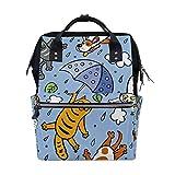 Bolsas de pañales para perros y gatos, de dibujos animados, de gran capacidad, multifunción, para viajes