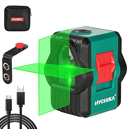 Niveau Laser, HYCHIKA 30M Autonivelant Niveau Laser Vert pour L'extérieur, Deux Modules (Ligne...