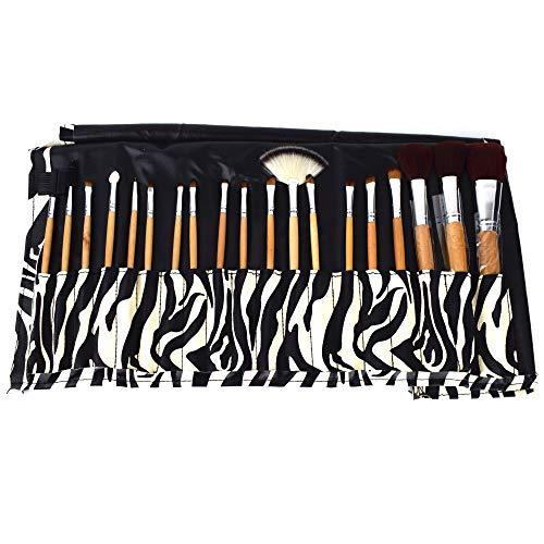 Trousse de maquillage Zebra – Set de 19 pinceaux – Rouge – Lied Pinceaux