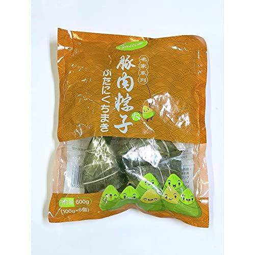 友盛名家特色焼肉粽(栗・椎茸入り大豚肉粽)ちまき チマキ 100g*6個入 中華料理人気商品・中国名産・台湾風味・お土産定番
