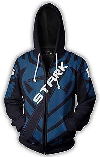 Iron Man Tony Stark Mens Cosplay Hoodie 3D Printed Sweatshirt Zipper Coat Jacket -AR177