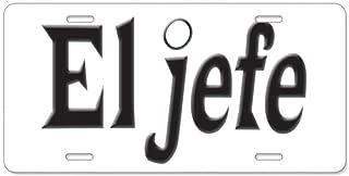 CafePress El Jefe The Boss Aluminum License Plate, Front License Plate, Vanity Tag