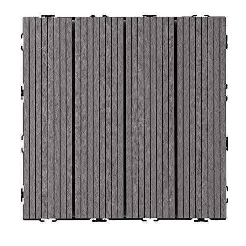 Loseta composite maciza base plástica 300x300 mm. (caja:11 uds, 1 m²)