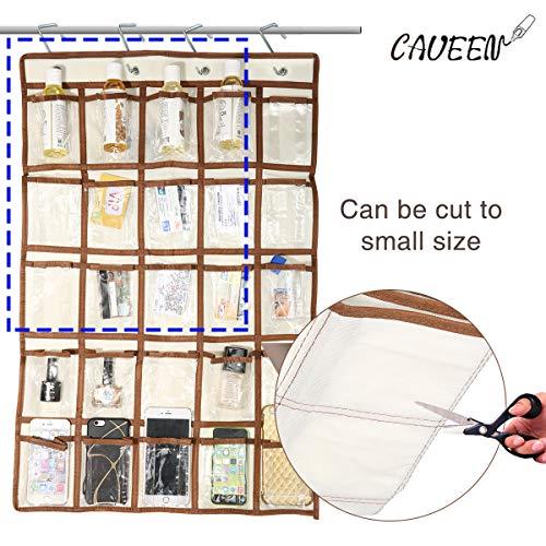 Caveen Klassenzimmer Pocket Diagramm Taschen-Diagramm für Handys und Taschenrechner Organizer Wand oder Tür Aufhänger Lagerung Organizer 25 Taschen