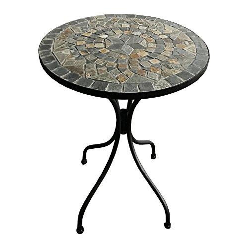 Dekorativer mediteraner Mosaik Tisch Stern Design Mosaiktisch Gartentisch Gartenmöbel Bistrotisch 60 x 70cm