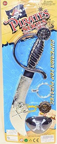 DC Set Pirate - 4 Pieces - Sabre Cache Oeil Boucle Oreille Piece Or - 308