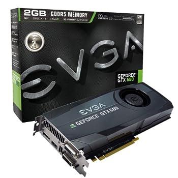 EVGA GeForce GTX 680 2048MB GDDR5 DVI DVI-D HDMI DisplayPort 4-way SLI Ready Graphics Card Graphics Cards 02G-P4-2680-KR