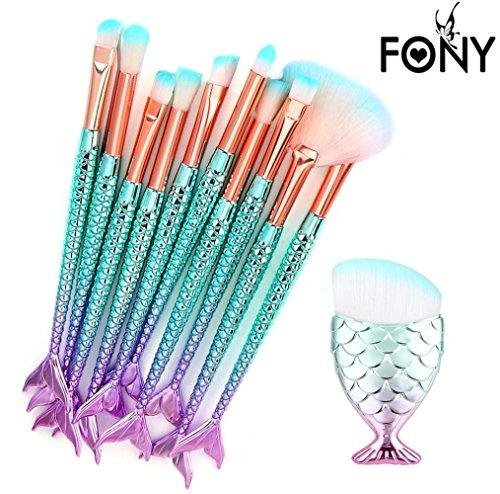 MuSheng(TM) 11pcs/8pcs/6pcs stylos de trompette de beauté en ensembles de brosse de la brosse de maquillage (11pcs)