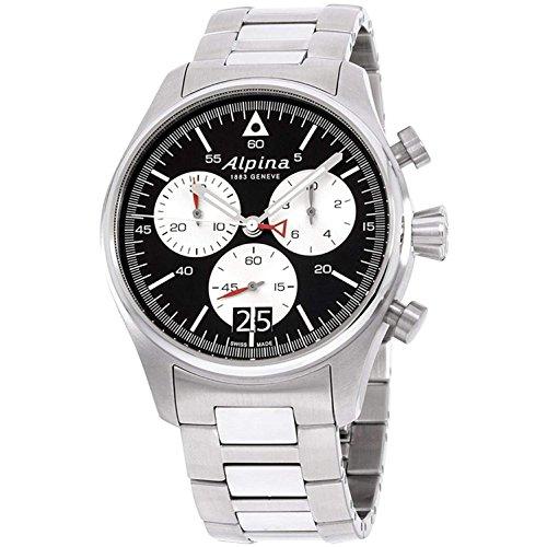 Alpina Herren-Armbanduhr 44mm Armband Edelstahl Schweizer Quarz AL-372BS4S6B