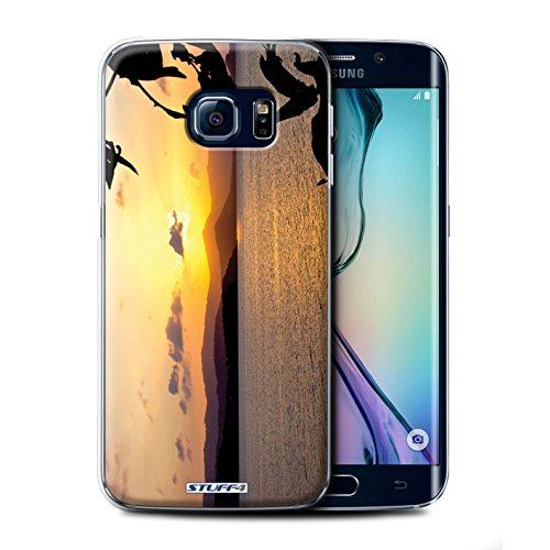 Stuff4® Phone Case/Cover/Skin/SGS-CC/Sunset Scenery Collection Samsung Galaxy S6 Edge Kettingkast