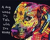 Gratitude Pitbull Dean Russo Animal modernes Dog Poster
