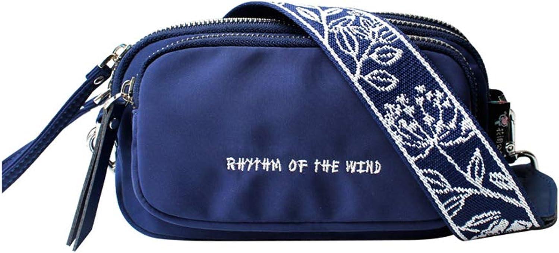 YWJFASHION Gürteltasche Frauen Canvas Rucksack Multifunktions Groe Kapazitt Lssige Mode Trend Brusttasche (Farbe   Blau)