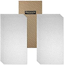 Genesis 2ft x 4ft Printed Pro Ceiling Tiles - Easy Drop-in Installation – Waterproof, Washable and Fire-Rated - High-Grade PVC to Prevent Breakage - Package of 10 Tiles