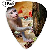 Vegetable Baby Monkey Guitar Picks 12 Ukulele Picks, einschließlich Akustikgitarre