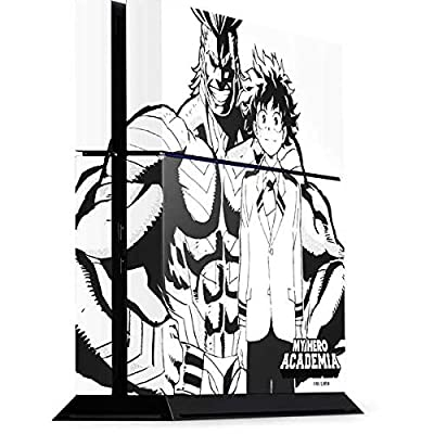 Skinit Decal Gaming Skin for PS4 Console - Officially Licensed Funimation All Might and Deku Black and White Design