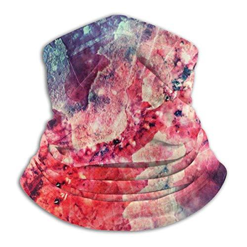 Cooky97 Mikroskop Traum Sturmhauben Atmungsaktiver Mikrofaser-Halswärmer Winddichter Halsgamaschen-Gesichtsschal für kaltes Wetter Winter Outdoor-Aktivitäten Staub Wind UV-Fleece 25x30 cm Schwarz