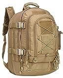 XWLSPORT Militär-Rucksack, erweiterbar, wasserdicht, Sturmbeutel, Molle Bug Out Bag für Jagd, Survival, Camping, Trekking, Schule oder andere Outdoor-Aktivitäten, hautfarben, 10 inches