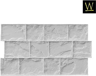 Roman Cobble Concrete Stamp Set by Walttools   Classic Decorative Cobblestone Pattern, Sturdy Polyurethane Texturing Mats, Realistic Detail (Flexible/Floppy)