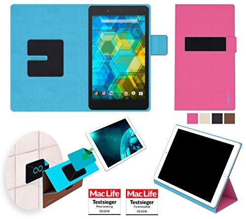 Hülle für BQ Edison 3 Mini Tasche Cover Hülle Bumper | in Pink | Testsieger