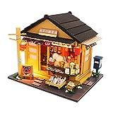 Erfula Modelo de Tienda de postres en Miniatura de casa de muñecas de Madera, Cabina ensamblada de Estilo japonés de Bricolaje, Modelo de casa Micro Mini casa de muñecas?con Movimiento de Modern