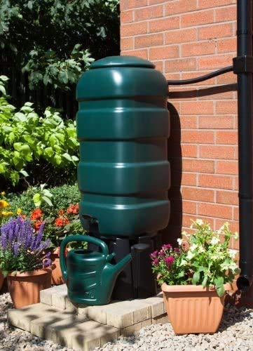 ACCURATE 100 Litre Garden Water Butt Set with stand, diverter, tap, t-piece and flexible hose (100L)