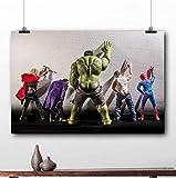 taoyuemaoyi Gerahmte Malerei Hulk Thor Joker Spider Man Marvel Superhelden Poster Leinwanddrucke...
