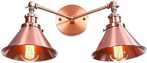 LED lámpara de pared moderna País estadounidense personalidad simple restaurante de moda pasillo interior tungsteno almacén bronce rojo creativo doble cabeza lámpara de pared