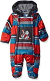 Wippette Baby Boys Snowsuit Pram, Striped red, 3/6M