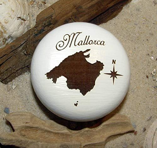 Möbelknauf Mallorca Balearen Spanien Möbelknopf Gravur Buche