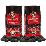 Grill Republic Premium Grill Holzkohle Briketts mit Heisser Glut und Langer Brenndauer | Schnelles und Sicheres Anzünden | 100% Qualitätsgarantie (17 kg)