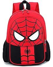 YKKJ Mochila para niños Spiderman, bolsa impermeable 3D, mochila superhéroe 3D Mochila Mochilas para niños Camping Senderismo.